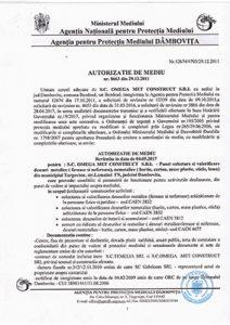 autorizatie de mediu revizuita Targoviste